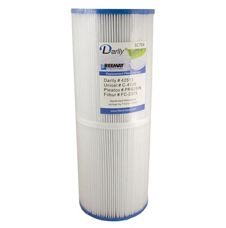 Filter 25 sqf 34x13x5cm hål